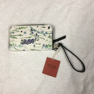 MOSSIMO MULTI BLUE FLORAL WRISTLET WALLET NWT